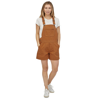 "Patagonia Women's Stand Up Overalls 5"" - Umber Brown"