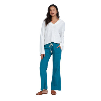 Roxy Oceanside Flared Beach Pants - Biscay Bay