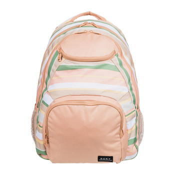Roxy Shadow Swell 24L Recycled Medium Backpack - Turf Green Dreaming Stripe