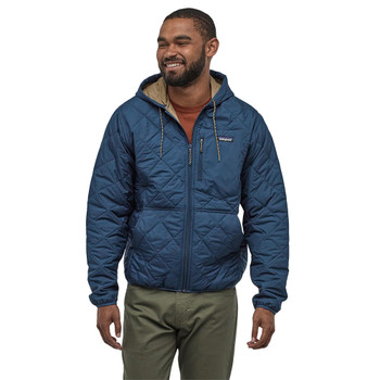Patagonia Men's Diamond Quilted Bomber Hoody - Stone Blue