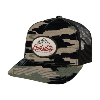 Quiksilver Don't Destroy Cap Recycled Snapback Hat - Four Leaf Clover
