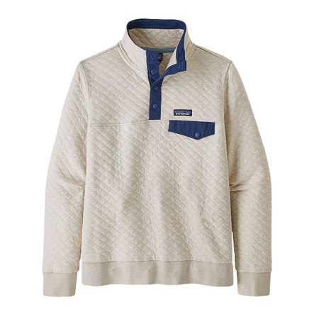 Patagonia Women's Organic Cotton Quilt Snap-T Pullover - Pelican W/Stone Blue