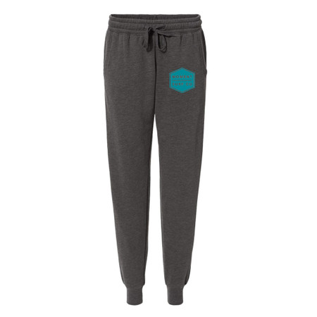 Moment Women's Boxed Logo Sweatpant - Shadow / Teal