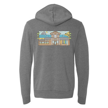 Moment Storefront Hoodie - Deep Heather - Back