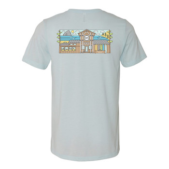 Moment Storefront Tee - Ice Blue - Back
