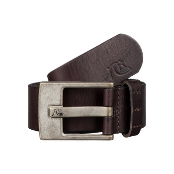 Quiksilver Section Leather Belt - Chocolate
