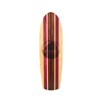 Moment Retro Skateboard Deck - Purple Wood