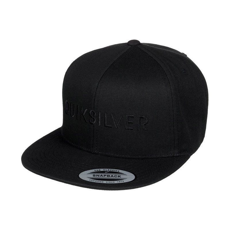 4b8ab3f2b98fa ... good quiksilver top shelfer snapback hat black e8710 d7ec3