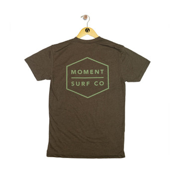 Moment Boxed Logo Tee - Espresso - Back
