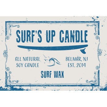 Surfs Up Candle 8oz Mason Jar Candle - Surf Wax