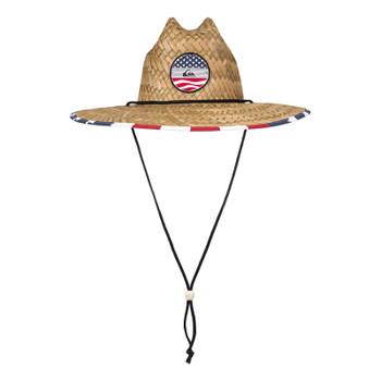 Quiksilver Outsider Straw Hat - Star Spangled Stripe
