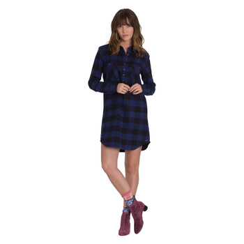 Element Teddy Flannel Dress - Lapis