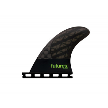 Futures Fins QD2 4.0 Blackstix Quad Rear Pair - Smoke/Light Green