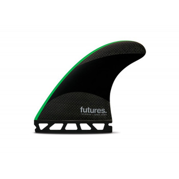 Futures Fins John John Techflex Medium - Black/Neon Green
