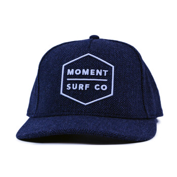 Moment Boxed Logo Hat -  Navy / White