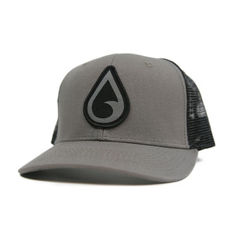 Moment Raindrop Trucker Hat - Grey / Black