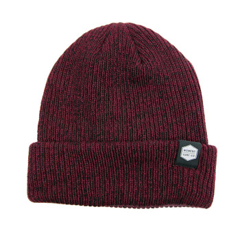 Moment Boxed Logo Beanie - Burgundy
