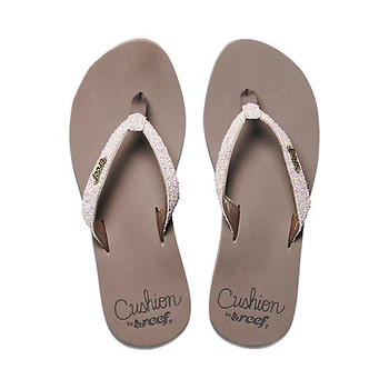 Reef Star Cushion Sassy Sandal - Brown/White