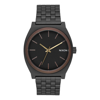 Nixon Time Teller Watch - All Black / Brown / Brass