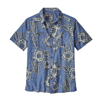 Patagonia Men's Back Step Shirt - Cereus Flower: Dolomite Blue