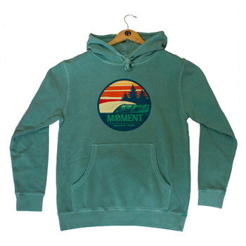 Moment Sunset Waves Pullover Hoodie - Seafoam