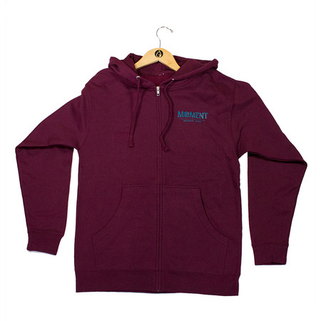 Moment Sunset Waves Zip Hoodie - Maroon