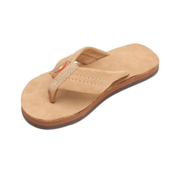 Rainbow Kids Premier Leather Single Layer Sandal - Sierra Brown