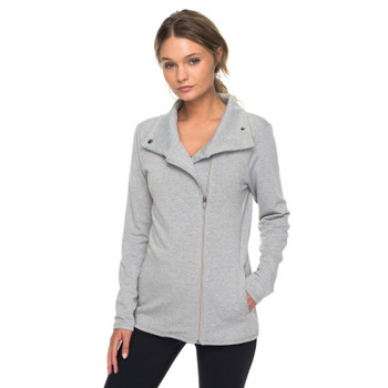 Roxy Paradise To Paradise Technical Zip-Up Sweatshirt - Heritage Heather