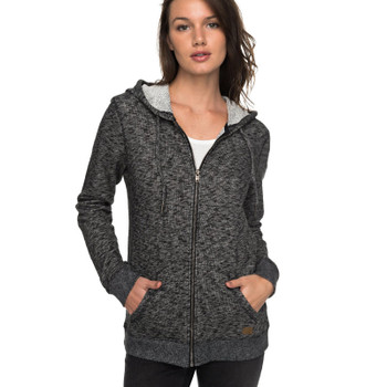 Roxy Trippin Zip Up Hoodie - Black Heather