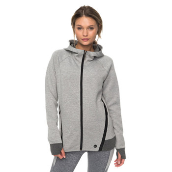 Roxy Duel Au Soleil Technical Zip Up Hoodie - Heritage Heather