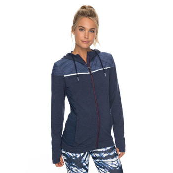 Roxy Crazy Feeling Technical Zip Up Hoodie - Dress Blues