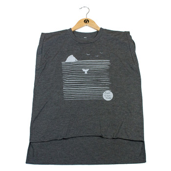 Cold Water Girls Rock N' Whale Tee - Dark Grey Heather