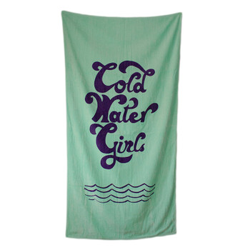 Cold Water Girls Script Beach Towel