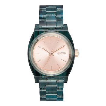 Nixon Medium Time Teller Watch - Acetate Aqua