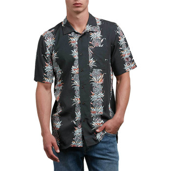 Volcom Palm Glitch Short Sleeve Button Up - Stealth