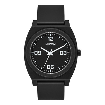 Nixon Time Teller P Corp Watch - Matte Black / White