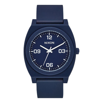 Nixon Time Teller P Corp Watch - Matte Navy / White
