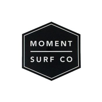 Moment Boxed Logo Sticker - Black