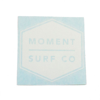 Moment Boxed Logo Die Cut Sticker - White
