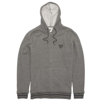 Vissla Established Zip Hoodie - Charcoal Heather