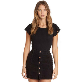 Billabong Push My Buttons Skirt - Black