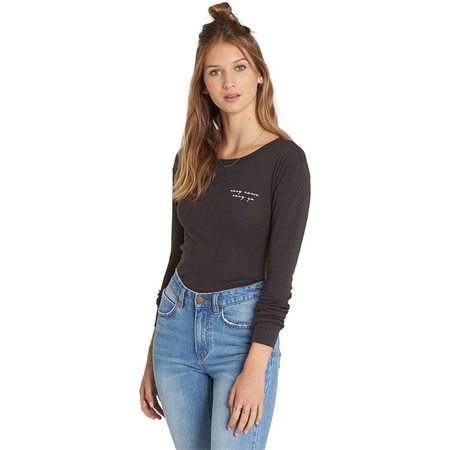 Billabong Easy Come And Go Long Sleeve Shirt - Off Black