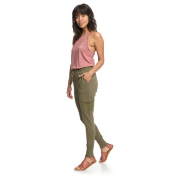 Roxy Beautiful Rhyme Joggers - Burnt Olive