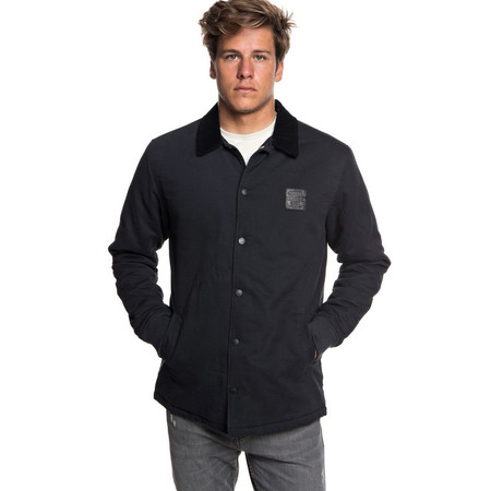 Quiksilver Kofuji Water Resistant Coaches Jacket - Black
