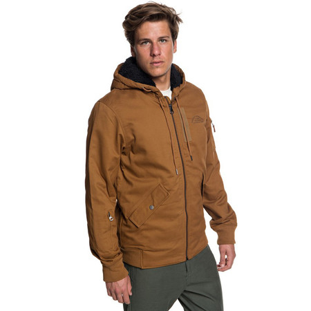 Quiksilver Hana Go Water Resistant Hooded Jacket - Rubber