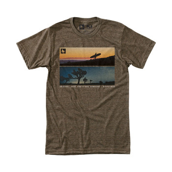 HippyTree Backlit Tee - Heather Brown