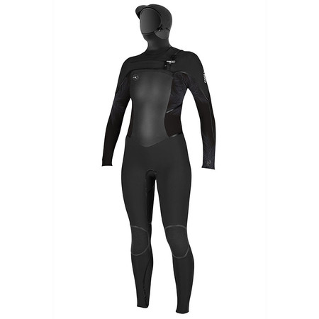 O'Neill Women's Psycho Tech 5.5/4mm Chest Zip Full W/ Hood Wetsuit