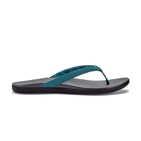 Olukai Women's Ho'Opio Sandals - Deep Teal / Charcoal