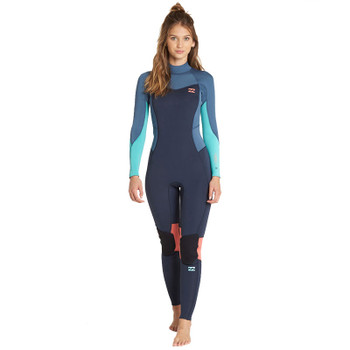 Rip Curl Women s Dawn Patrol 3 2 back Zip Wetsuit - Black White ... fc06f61c2