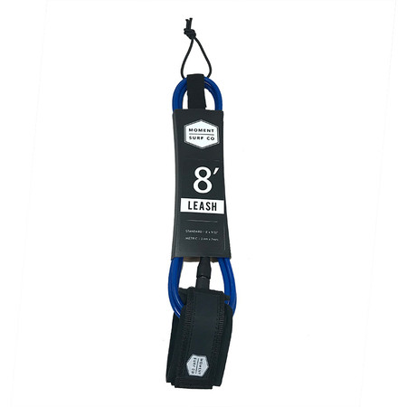 Moment Surf Company 8' Standard Leash - Blue